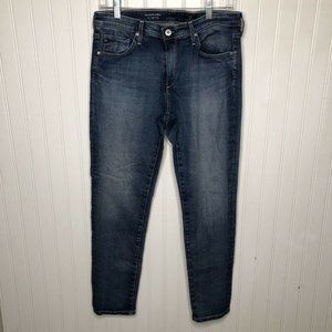 AG The Stevie Ankle Blue Jeans slim straight ankle